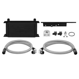 Performance - Oil System & Parts - Mishimoto - FLDS Nissan 350Z / Infiniti G35 Coupe Oil Cooler Kit, Black MMOC-350Z-03BK