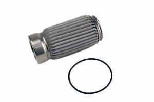 Fuel System - Fuel System Parts - Aeromotive Fuel System - Aeromotive Fuel System 100 M Stainless Filter Element, Crimp, Fits (12304, 12307, 12324, 12354) 12614