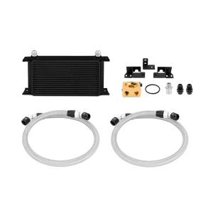 Performance - Oil System & Parts - Mishimoto - FLDS Jeep Wrangler JK Thermostatic Oil Cooler Kit, Black MMOC-WRA-07TBK