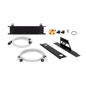 Performance - Oil System & Parts - Mishimoto - FLDS Subaru WRX and STI Thermostatic Oil Cooler Kit, Black MMOC-WRX-01TBK