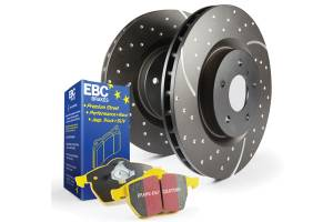 EBC Brakes GD sport rotors, wide slots for cooling to reduce temps preventing brake fade. S5KF1686