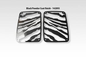 American Car Craft - American Car Craft 142093, 07-18 Jeep Wrangler Tail Light Cover Safari, Black 142093