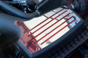 Air Intakes - Accessories - American Car Craft - American Car Craft Air Box Accent Plate carbon fiber red 273057-RD