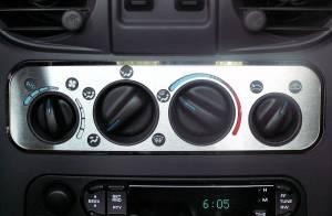 American Car Craft A/C Plate Satin 2pc 711001