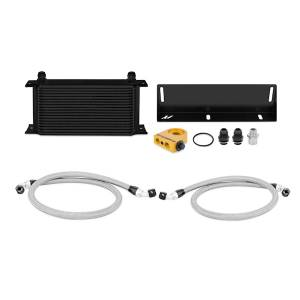 Performance - Oil System & Parts - Mishimoto - FLDS Ford Mustang 5.0L Thermostatic Oil Cooler Kit, Black MMOC-MUS-79TBK