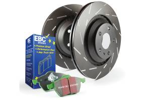 EBC Brakes Slotted rotors feature a narrow slot to eliminate wind noise. S4KF1739