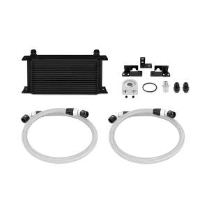 Performance - Oil System & Parts - Mishimoto - FLDS Jeep Wrangler JK Oil Cooler Kit, Black MMOC-WRA-07BK