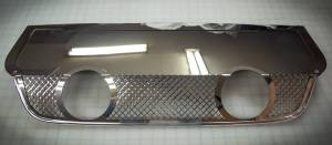 Exhaust Components - Upgrade Pipe - American Car Craft - American Car Craft Exhaust Filler Panel Corsa 4.0 Dual 2 Tip Laser Mesh 042012