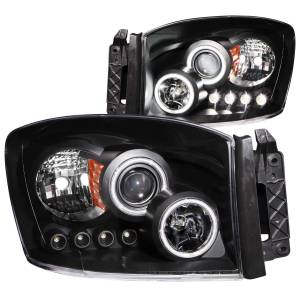 ANZO USA - ANZO USA Projector Headlight Set w/Halo 111104
