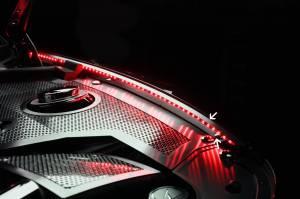 Exterior - Fenders & Flares - American Car Craft - American Car Craft Inner Fender Liners Polished 4pc w/ Top Caps Illum. Red LED 103051-RDL