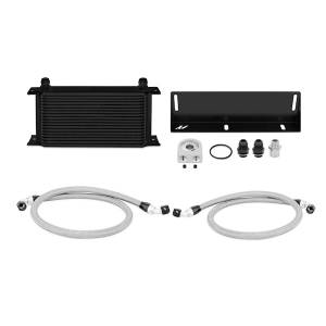 Performance - Oil System & Parts - Mishimoto - FLDS Ford Mustang 5.0L Oil Cooler Kit, Black MMOC-MUS-79BK