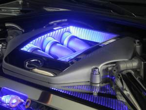 Performance - Engine Parts - American Car Craft - American Car Craft Engine Shroud Cover 4pc Illum. Blue LED 163009-BLUL
