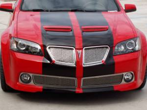 Exterior - Grilles - American Car Craft - American Car Craft Grille Laser Mesh Upper 2pc 222002