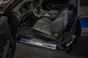 Interior - Misc. Interior Accessories - American Car Craft - American Car Craft 2008-2019 Challenger Carbon Fiber LED Doorsills 151047-BLUL