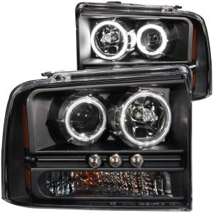 ANZO USA Projector Headlight Set w/Halo 111117