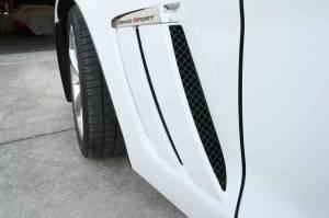 Exterior - Fenders & Flares - American Car Craft - American Car Craft Vent Grille Laser Mesh Side 6pc Front Black Powder Coat Stealth 042095