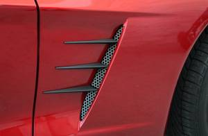 Exterior - Fenders & Flares - American Car Craft - American Car Craft Vent Spears w/Perforated Vents 8pc C6 Black Stealth 042114