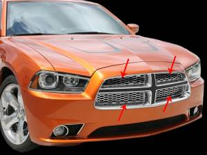 Exterior - Grilles - American Car Craft - American Car Craft Grilles Upper Factory Overlays 4pc Polished 332005