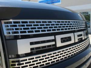 American Car Craft Grille Upper Front Polished 2pc 772008