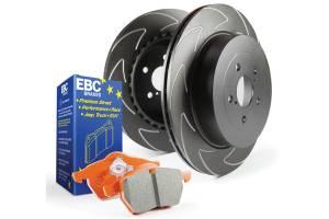 Brakes - Brake Pad & Rotor Kits - EBC Brakes - EBC Brakes BSD rotors with a V pattern, improves heat dispersion and helps pads run cooler. S7KF1014