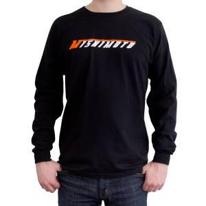 Apparel & Accessories - Shirts - Mishimoto - FLDS Mishimoto Long-Sleeve Logo Shirt MMAPL-LOGO-LSBKM