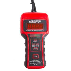 AutoMeter - AutoMeter BATTERY TESTER, 12V HEAVY DUTY, AUTOGAGE BT-400
