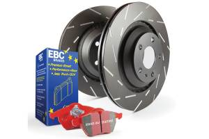 EBC Brakes - EBC Brakes Slotted rotors feature a narrow slot to eliminate wind noise. S4KF1196