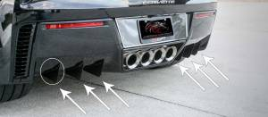 Exterior - Body Kits - American Car Craft - American Car Craft Rear Air Diffusers Satin Stainless 6pc 052096