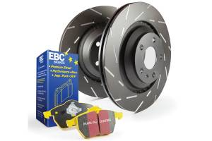 EBC Brakes Slotted rotors feature a narrow slot to eliminate wind noise. S9KR1499