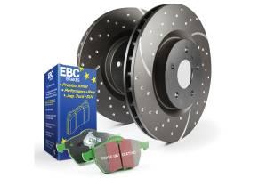 Brakes - Brake Pad & Rotor Kits - EBC Brakes - EBC Brakes GD sport rotors, wide slots for cooling to reduce temps preventing brake fade. S10KF1059