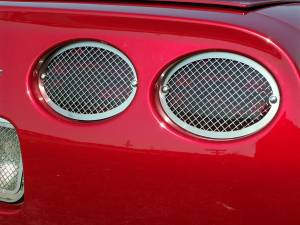 Bed Accessories - Truck Bed Accessories - American Car Craft - American Car Craft Taillight Grilles Laser Mesh 4pc 032027