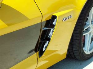 Exterior - Fenders & Flares - American Car Craft - American Car Craft Vent Spears w/Perforated Front Vents 6pc Z06 042051