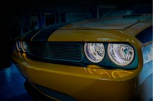 Lighting - Headlights - American Car Craft - American Car Craft Headlight Surrounds  Satin Illum. White 152035-WHTL