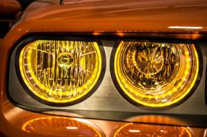 Lighting - Headlights - American Car Craft - American Car Craft Headlight Surrounds  Satin Illum. Yellow 152035-YLWL