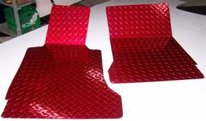 Interior - Floor Mats - American Car Craft - American Car Craft Floor Mats Show Diamond Plate Red 041002