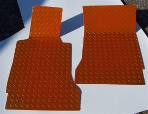 Interior - Floor Mats - American Car Craft - American Car Craft Floor Mats Show Diamond Plate Orange 041003