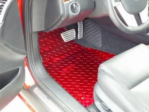 Interior - Floor Mats - American Car Craft - American Car Craft Show Mats Diamond Plate Powder Coated 2pc Red 221002-RD