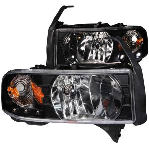 Lighting - Headlights - ANZO USA - ANZO USA Crystal Headlight Set 111205