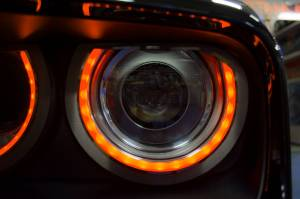 Lighting - Headlights - American Car Craft - American Car Craft Headlight Surrounds  Satin Illum. Orange 152036-ORGL