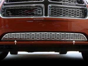 American Car Craft Grille Lower Factory Overlay 1pc Polished 332006