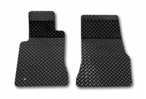 Interior - Floor Mats - American Car Craft - American Car Craft Floor Mats Diamond Plate Powder Coated 2pc Black 271009-BLK