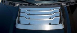 Hoods & Accessories - Hoods - American Car Craft - American Car Craft Hood Vent Grille Polished/Satin Stainless 16pc 772072