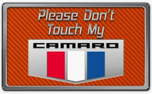 Interior - Misc. Interior Accessories - American Car Craft - American Car Craft 2010-2015 Camaro Please Don't Touch My Dash Plaque 171005-ORG