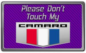 Interior - Misc. Interior Accessories - American Car Craft - American Car Craft 2010-2015 Camaro Please Don't Touch My Dash Plaque 171005-PUR