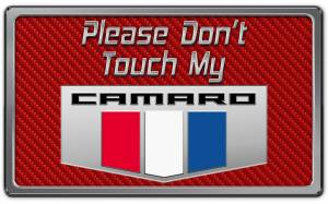 Interior - Misc. Interior Accessories - American Car Craft - American Car Craft 2010-2015 Camaro Please Don't Touch My Dash Plaque 171005-RD