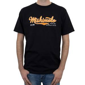 Apparel & Accessories - Shirts - Mishimoto - FLDS Mishimoto Men's Athletic Script T-Shirt, Black MMAPL-SCRIPT-BKS