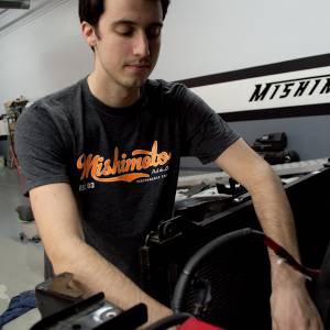 Mishimoto - FLDS Mishimoto Men's Athletic Script T-Shirt, Gray MMAPL-SCRIPT-GYS - Image 2
