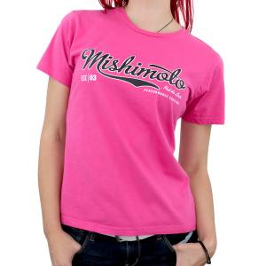 Apparel & Accessories - Shirts - Mishimoto - FLDS Mishimoto Women's Athletic Script T-Shirt, Pink MMAPL-SCRIPT-PKS