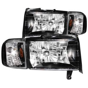 Lighting - Headlights - ANZO USA - ANZO USA Crystal Headlight Set 111067