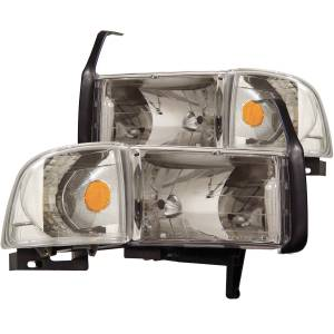 Lighting - Headlights - ANZO USA - ANZO USA Crystal Headlight Set 111068